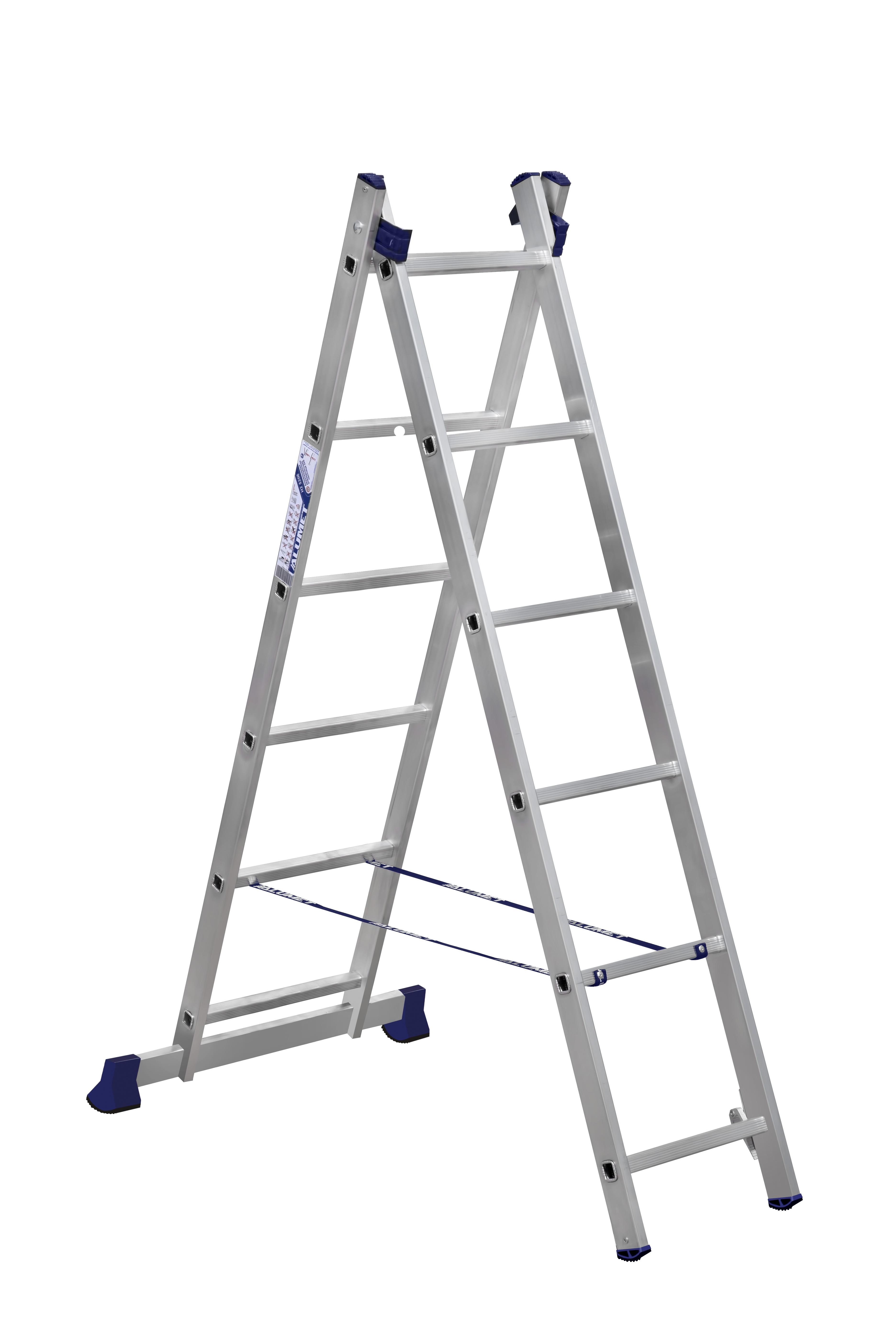 Лестницы двухсекционные алюминиевые