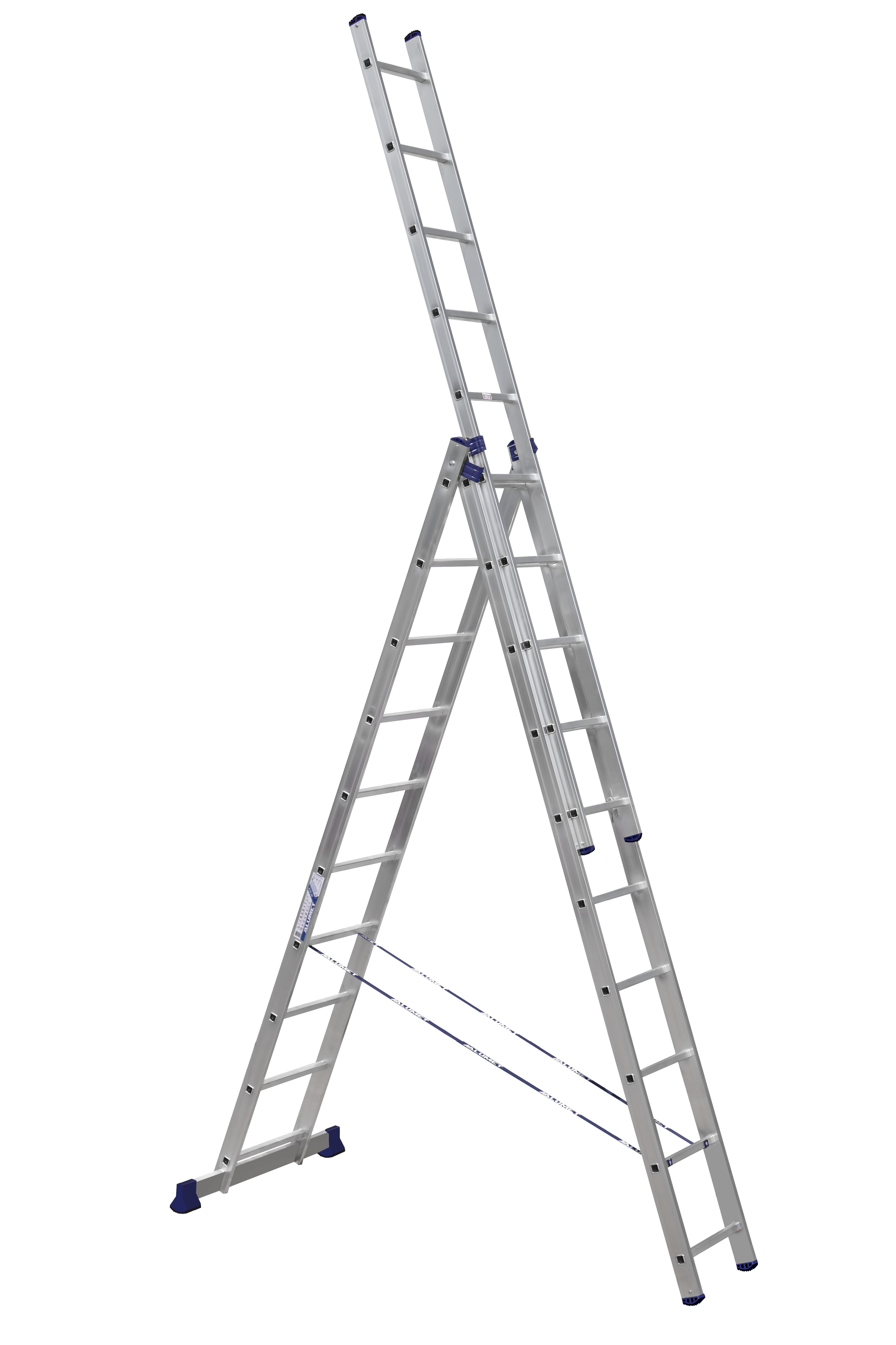 Лестницы трехсекционные алюминиевые