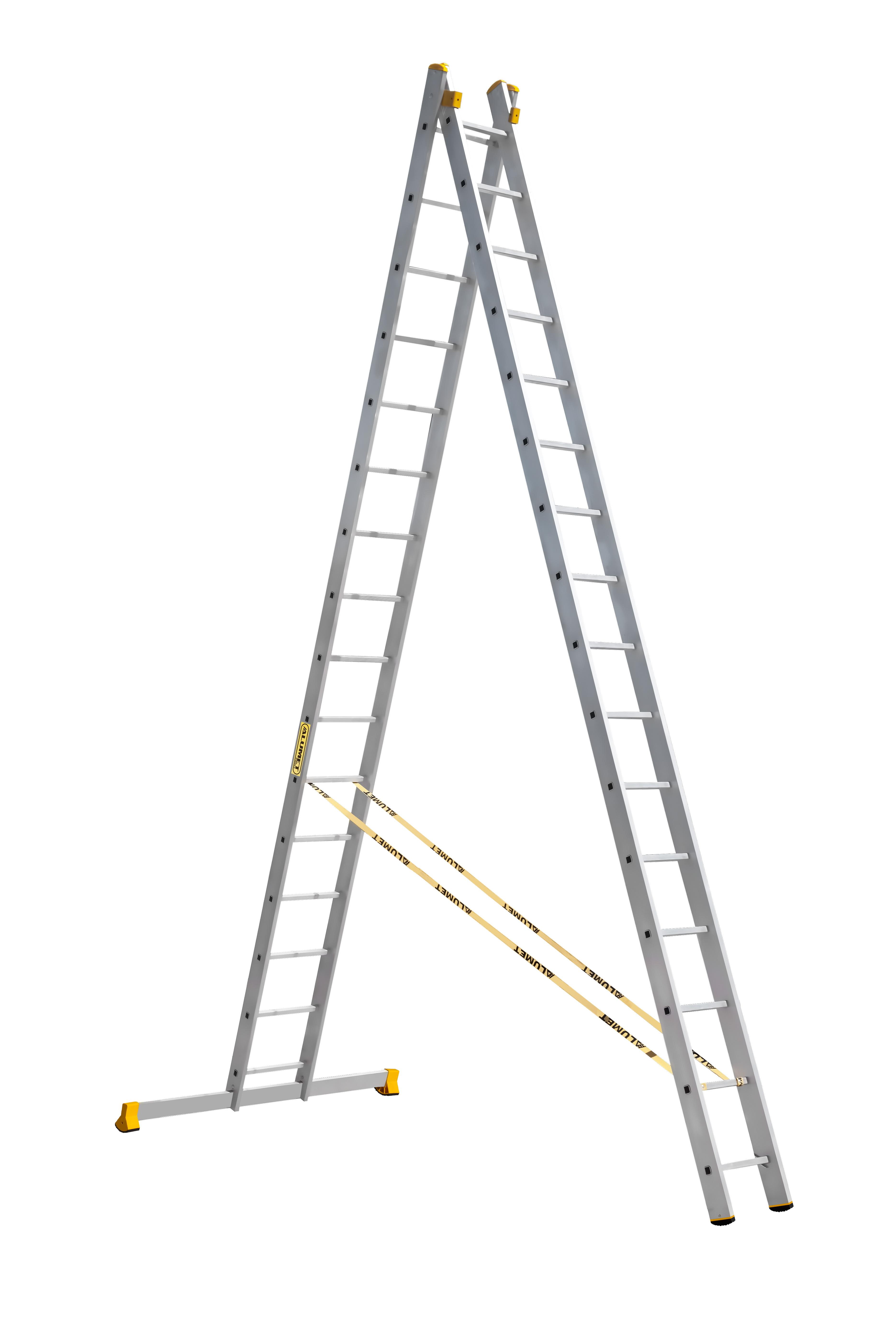 Лестницы усиленные профессиональные двухсекционные