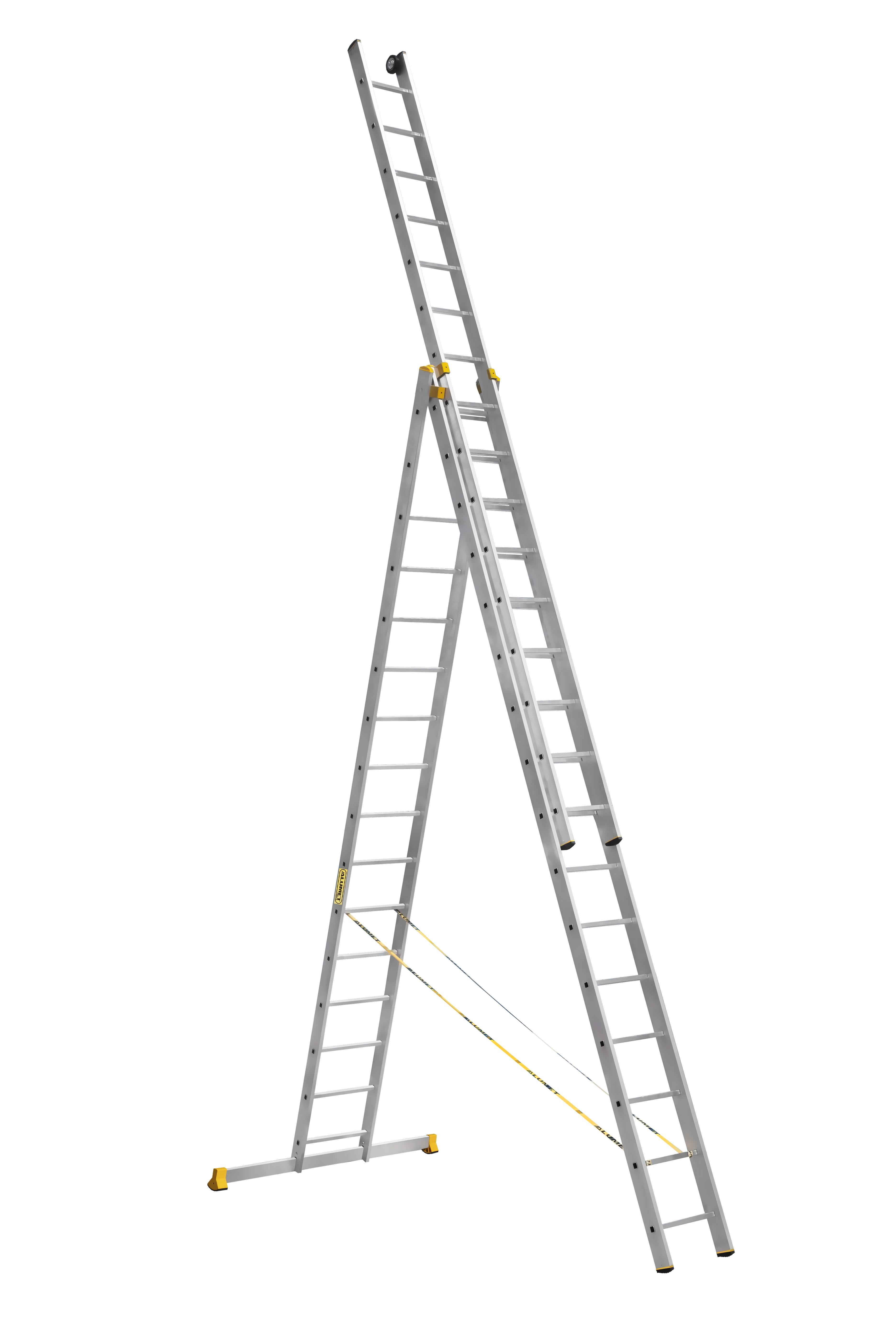 Лестницы усиленные профессиональные трехсекционные