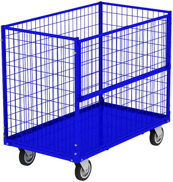 Серия КСМ - сетчатые контейнеры на колесах