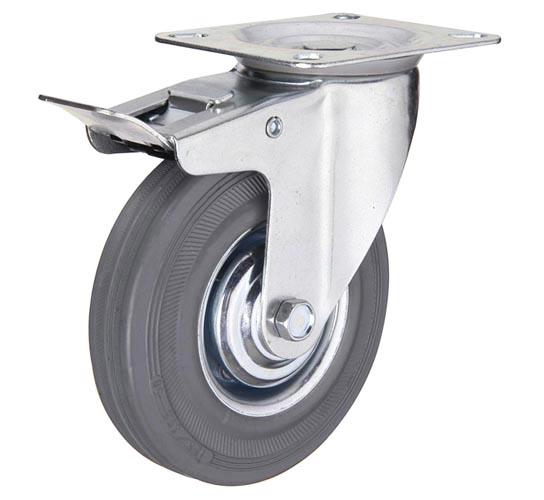 Аппаратные колеса поворотные с тормозом