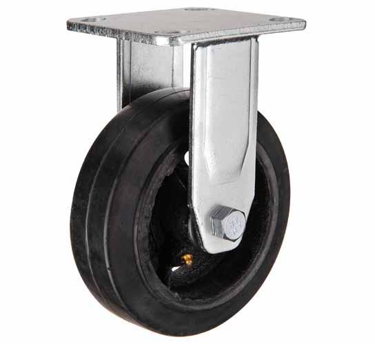Неповоротные большегрузные колеса чугун-резина