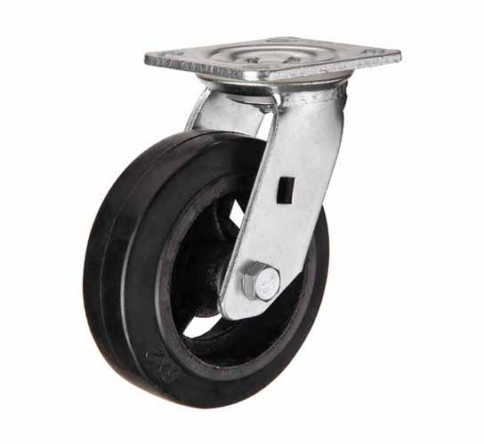 Поворотные большегрузные колеса чугун-резина